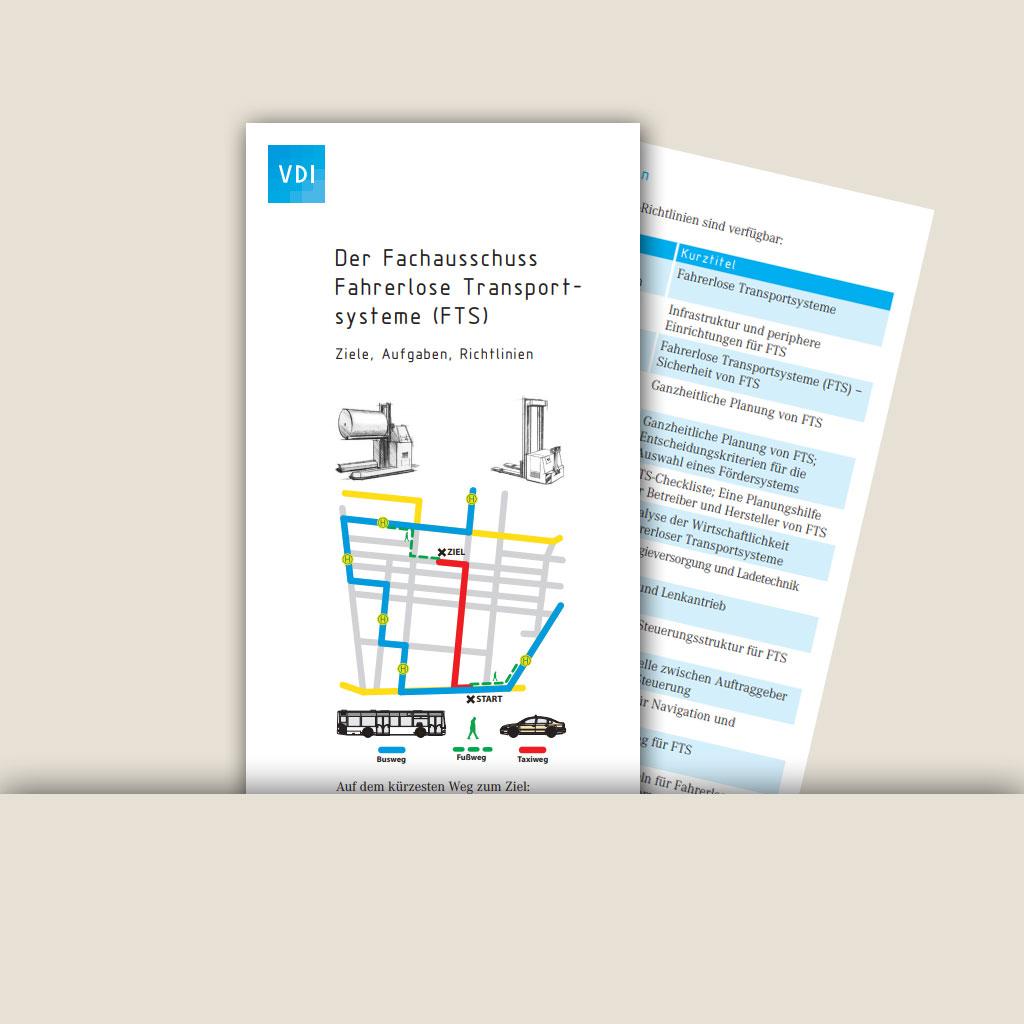 FTS Fachausschuss Faherlose Transportsysteme Flyer VDI