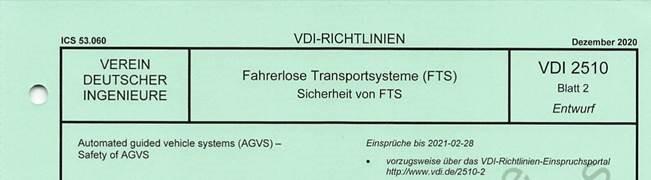 VDI 2510 Blatt 2 Sicherheit von FTS